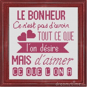Affiche «Bonheur»