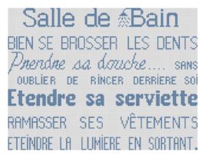 Affiche «Salle de bain»