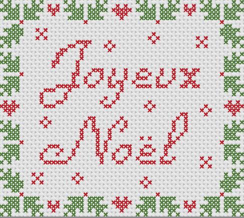 Joyeux Noël au point de croix
