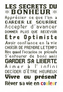 Affiche «Les secrets du bonheur»