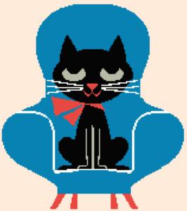 Affiche «Chat dans un fauteuil»