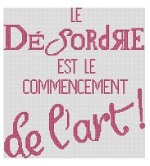 Affiche «Le désordre est le commencement de l'art !»