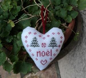 Grille coeur de Noël…