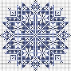 étoile point de croix