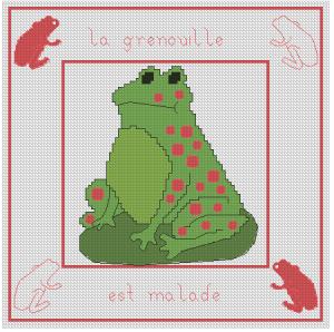 La grenouille est malade