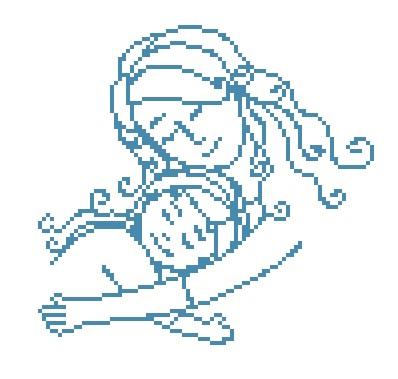 Amour maternel au point de croix
