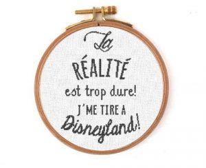 Affiche «J'me tire à Disneyland»