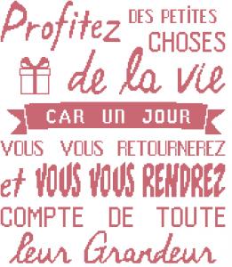 Affiche «Profitez de la vie»