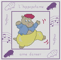 L'hippopotame aime danser