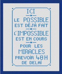 Poster « Ici le possible….. »