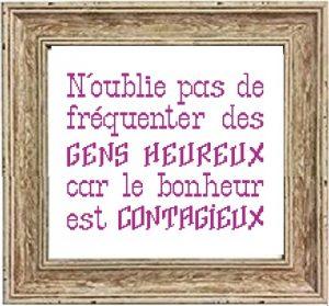 Affiche «Le bonheur est contagieux»