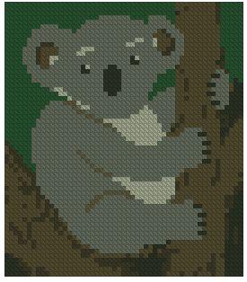 koala point de croix