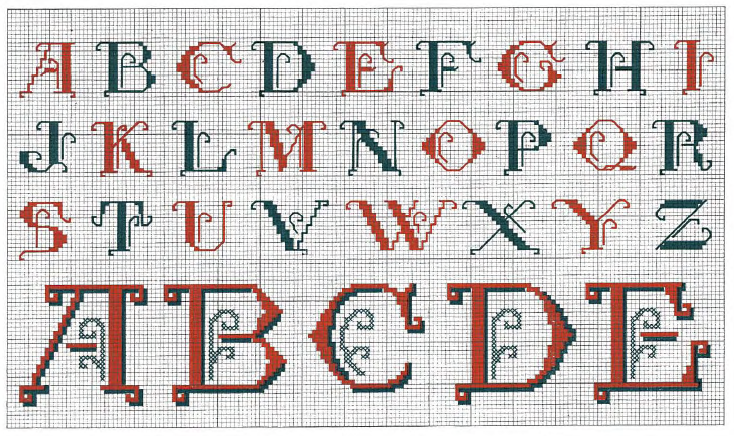 Lettres anciennes - Le point de croix de Martine