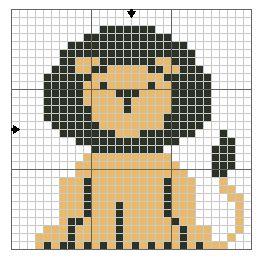 lion point de croix
