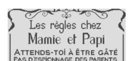 Affiche «Les règles chez Mamie et Papi»