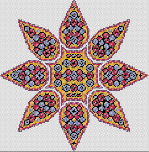 mandala point de croix