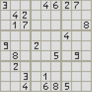 sudoku point de croix